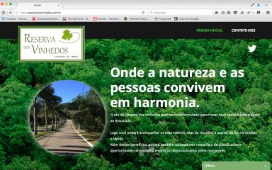 Conheça as novidades do site do Reserva dos Vinhedos